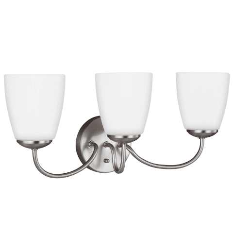 Bannock Three Light Wall / Bath Brushed Nickel