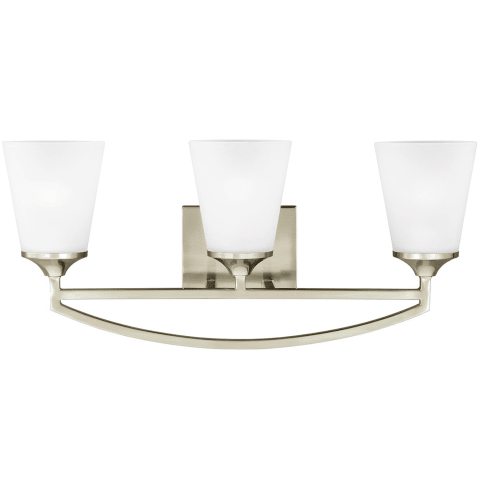 Hanford Three Light Wall / Bath Brushed Nickel