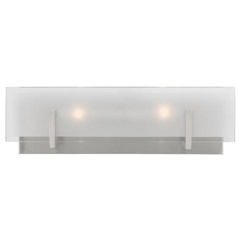 Syll Two Light Wall / Bath Brushed Nickel