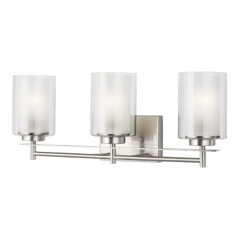 Elmwood Park Three Light Bath Brushed Nickel