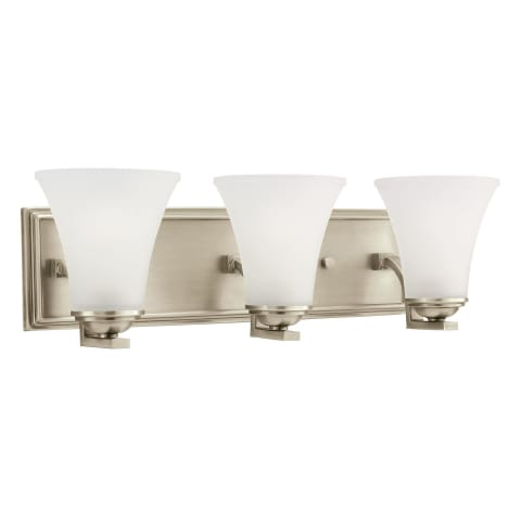 Somerton Three Light  Wall / Bath Antique Brushed Nickel Bulbs Inc