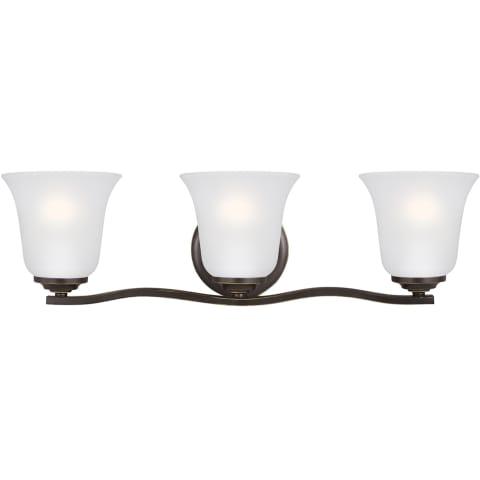 Emmons Three Light Wall / Bath Heirloom Bronze Bulbs Inc