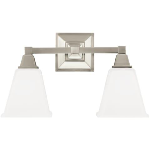Denhelm Two Light Wall / Bath Brushed Nickel Bulbs Inc