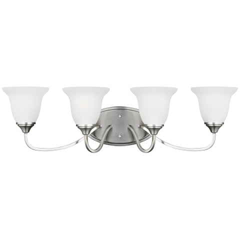 Clement Four Light Wall / Bath Brushed Nickel