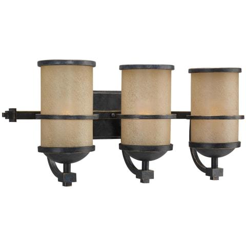 Roslyn Three Light  Wall / Bath Flemish Bronze Bulbs Inc