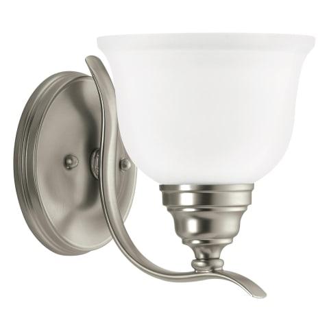Wheaton One Light Wall / Bath Sconce Brushed Nickel Bulbs Inc