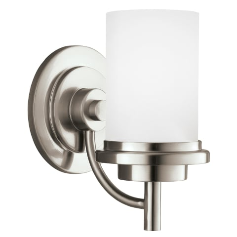 Winnetka One Light Wall / Bath Sconce Brushed Nickel Bulbs Inc