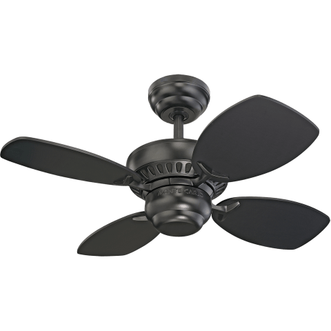 "28"" Colony II Fan - Black Matte Black"