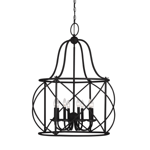 Turbinio Eight Light Hall / Foyer Blacksmith Bulbs Inc
