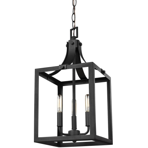 Labette Small Three Light Hall / Foyer Black Bulbs Inc
