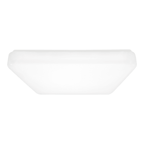 Vitus Large LED Square Flush Mount White