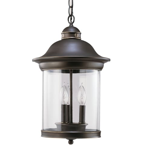 Hermitage Three Light Outdoor Pendant Antique Bronze