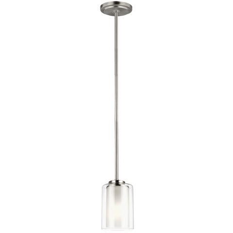 Elmwood Park One Light Mini-Pendant Brushed Nickel