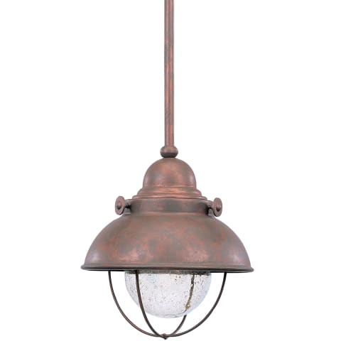 Sebring One Light Outdoor Mini-Pendant Weathered Copper