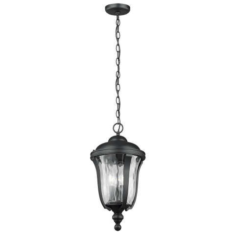 Perrywood Three Light Outdoor Pendant Black