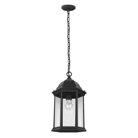 Sevier One Light Outdoor Pendant Black