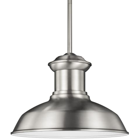 Fredricksburg One Light Outdoor Pendant Satin Aluminum