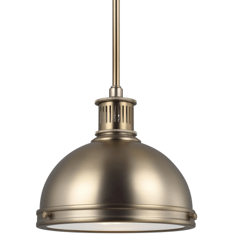 Pratt Street Metal One Light Pendant Satin Bronze