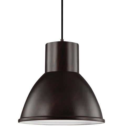 Division Street One Light Pendant Burnt Sienna