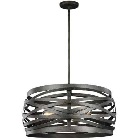 Cowen Three Light Pendant Obsidian Mist