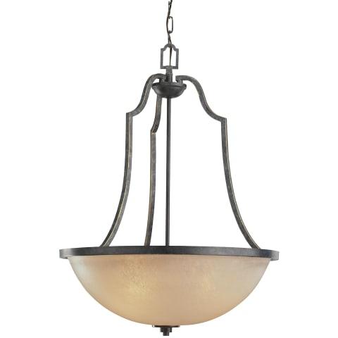 Roslyn Three Light Pendant Flemish Bronze Bulbs Inc