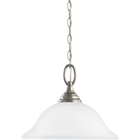 Wheaton One Light Pendant Brushed Nickel Bulbs Inc