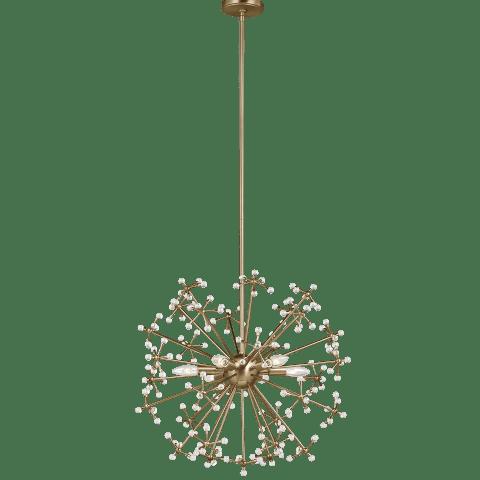 Davi Six Light Pendant Satin Brass
