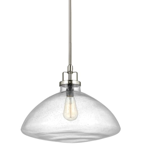 Belton One Light Pendant Brushed Nickel