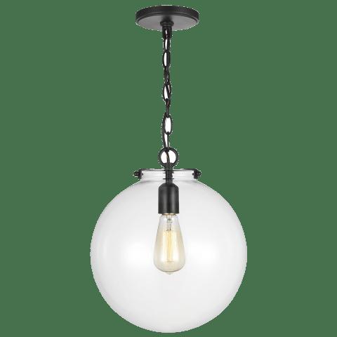 Kate One Light Sphere Pendant Midnight Black Bulbs Inc