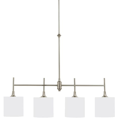 Stirling Four Light Island Pendant Brushed Nickel