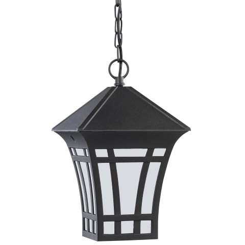 Herrington One Light Outdoor Pendant Black Bulbs Inc