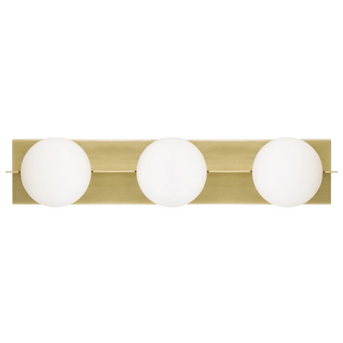 Orbel 3-Light Bath 3 Light aged brass no lamp