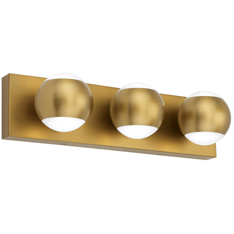 Oko 3-Light Bath 3 Light aged brass 3000K 90 CRI led 90 cri 3000k 120v