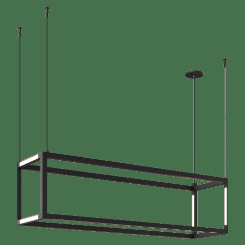 Brox 48 Linear Suspension Rectangle nightshade black 3000K 90 CRI 24v remote canopy