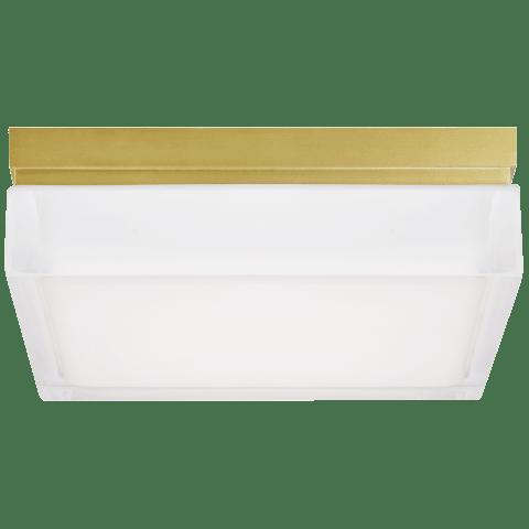 Boxie Large Flush Mount Large aged brass 2700K 90 CRI led 2700k 120v