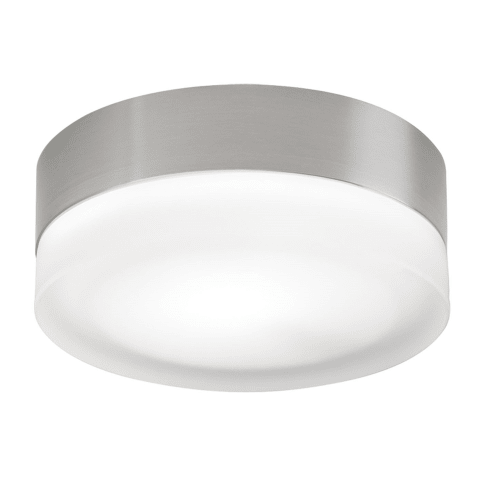 360 Small Flush Mount Small Frost satin nickel incandescent (t20)