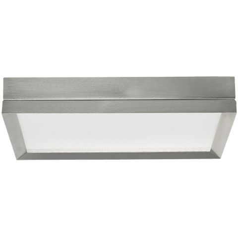 Finch Square Flush Mount Square satin nickel 3000K 80 CRI led 3000k 80 cri 120v