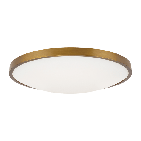 "Vance 13 Ceiling  13"" Small aged brass 2700K 90 CRI led 90 cri 2700k 120v"