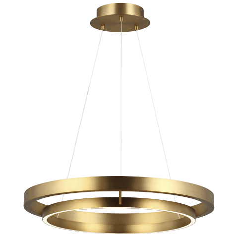 "Grace 30 Chandelier 30"" Diameter aged brass 3000K 90 CRI integrated led 90cri 3000k 120v (t24)"