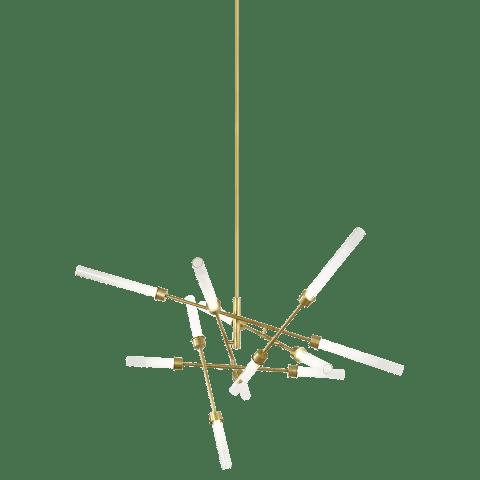 Linger 12-Light Abstract Chandelier 12-Light Abstract Chandelier Polished Nickel 3000K 90 CRI Integrated LED 3000k 120v (t20/T24)