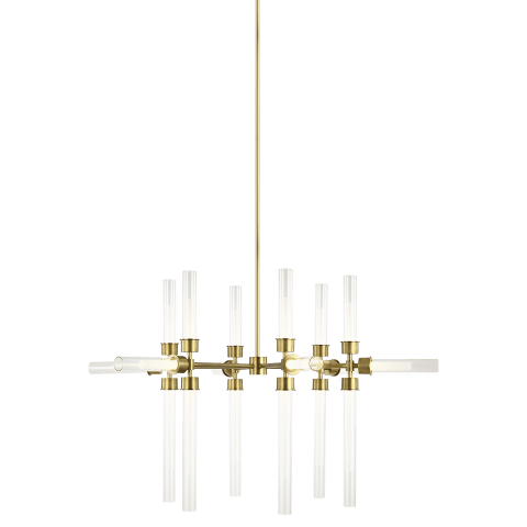 Linger 18-Light Chandelier 18-Light Chandelier natural brass 3000K 90 CRI integrated led 90 cri 3000k 120v (t20/t24)