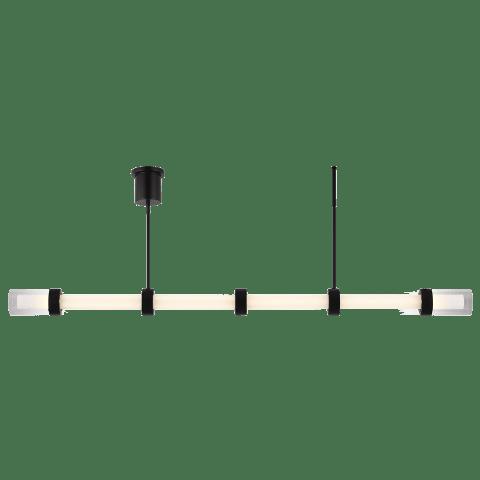 Wit Linear Suspension 6 Glass black 3000K 90 CRI integrated led 90 cri 3000k 120-277v unv (t24)