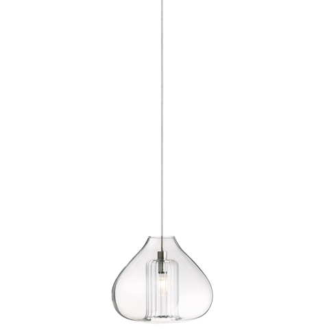 Cheers 1 Pendant MonoPoint Cheer - 1 Light Clear satin nickel 12 volt xenon (t20)