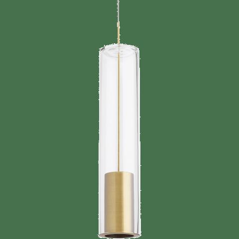 Captra Pendant MonoPoint Clear aged brass 3000K 90 CRI 12 volt led 90 cri 3000k