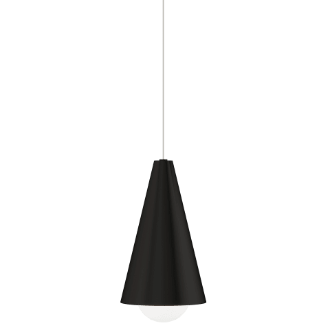 Mini Joni Pendant MonoPoint nightshade black 3000K 90 CRI integrated led 90 cri 3000k 120v