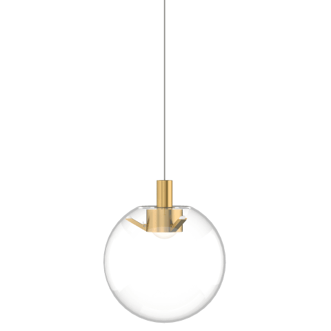 Mini Palona Pendant MonoPoint Clear natural brass no lamp