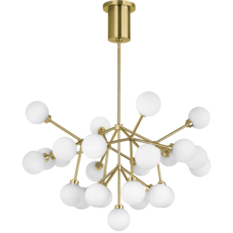 Mara Chandelier White aged brass 2700K 90 CRI  led 90 cri 2700k 120v