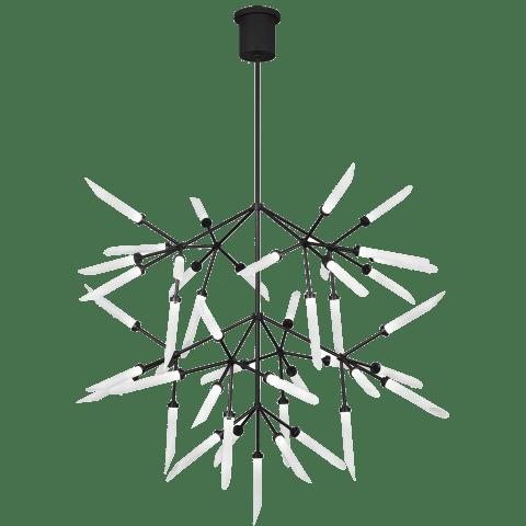 Spur Grande Chandelier Frost matte black 2700K 90 CRI led 90 cri 2700k 120v