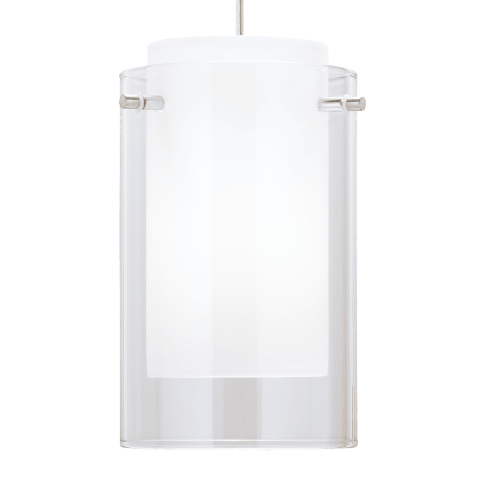 Echo Small Pendant Small Clear satin nickel no lamp