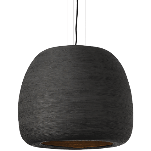 Karam Large Pendant Large Black/Black no lamp